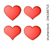 red hearts set. vector. | Shutterstock .eps vector #246188713