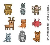 Pixel Art Collection Of Cute 8...