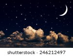 night sky with stars and moon | Shutterstock . vector #246212497