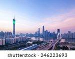 panoramic view of guangzhou... | Shutterstock . vector #246223693