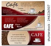 cafe template set   vector... | Shutterstock .eps vector #246226507