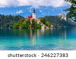 Bled With Lake  Island  And...