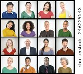 people diversity faces human... | Shutterstock . vector #246229543