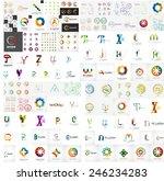 logo mega collection  abstract... | Shutterstock .eps vector #246234283