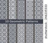set of ten geometric patterns | Shutterstock .eps vector #246235333