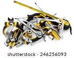 work tool heap on white... | Shutterstock . vector #246256093