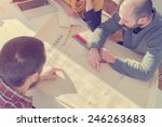 young group of architects... | Shutterstock . vector #246263683