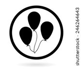 balloon | Shutterstock .eps vector #246264643