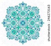abstract flower mandala.... | Shutterstock .eps vector #246273163
