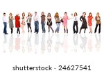 people aligned | Shutterstock . vector #24627541