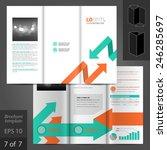 white brochure template design... | Shutterstock .eps vector #246285697
