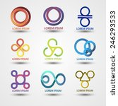 set of templates striped logos. ... | Shutterstock .eps vector #246293533