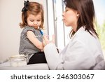 profile view of a pretty little ...   Shutterstock . vector #246303067