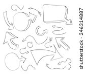 hand draw arrow icon | Shutterstock .eps vector #246314887
