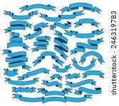 vintage ribbon banners  hand... | Shutterstock .eps vector #246319783