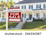 foreclosure home for sale real... | Shutterstock . vector #246334387