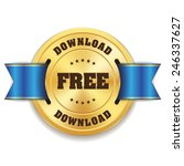 gold free download badge with...