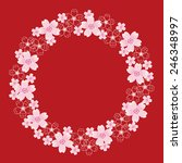 cherry blossom wreath | Shutterstock .eps vector #246348997