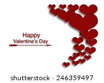 red hearts with letter love and ... | Shutterstock . vector #246359497