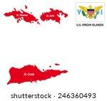 u.s. virgin islands map with...