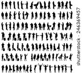 vector silhouettes of people in ... | Shutterstock .eps vector #246369457