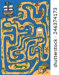 illustration maze pirate ship ... | Shutterstock .eps vector #246374173