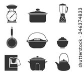 Kitchen Tools Icons Set Great...