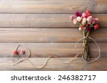 Bouquet Of Dried Flowers On...
