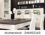 dining room interior  candles... | Shutterstock . vector #246402163