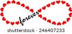 forever love  infinity loop ... | Shutterstock .eps vector #246407233