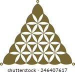 flower of life  sacred geometry ... | Shutterstock .eps vector #246407617
