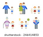 illustrated infographics on the ... | Shutterstock .eps vector #246414853