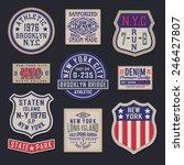 labels vintage nyc denim... | Shutterstock .eps vector #246427807