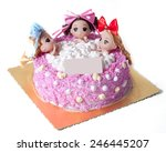 a creative cake with three... | Shutterstock . vector #246445207