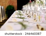table setting for an wedding... | Shutterstock . vector #246460387