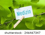 the german word medizin ... | Shutterstock . vector #246467347