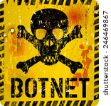 bot net infection warning sign... | Shutterstock .eps vector #246469867