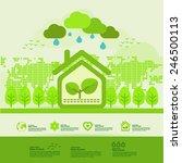 green house in nature | Shutterstock .eps vector #246500113