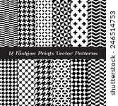 black and white fashion prints... | Shutterstock .eps vector #246514753