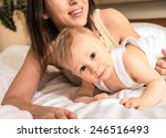 charming 8 months old baby boy...   Shutterstock . vector #246516493
