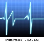 heart monitor background   Shutterstock . vector #24652123