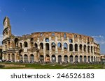 colosseum with blue sky | Shutterstock . vector #246526183