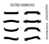 black retro ribbon set. | Shutterstock .eps vector #246532993