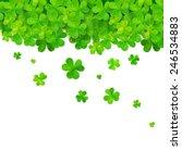 vector green falling clovers...   Shutterstock .eps vector #246534883