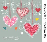 valentine's card hearts template | Shutterstock .eps vector #246539533