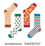 set of socks with the original... | Shutterstock .eps vector #246542767
