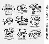 various black and white... | Shutterstock .eps vector #246544153