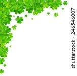 green clovers vector corner... | Shutterstock .eps vector #246546007