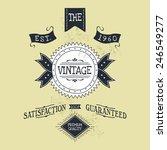 hand lettered catchword vintage ...   Shutterstock .eps vector #246549277