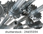 abstract mechanism. 3d... | Shutterstock . vector #24655354
